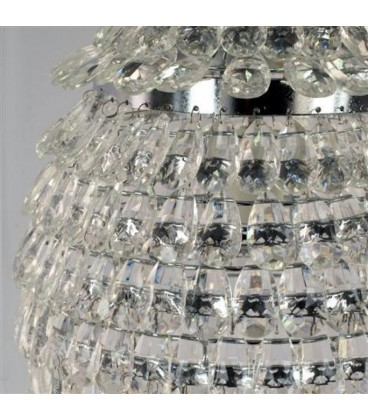 Lámpara blanca 36x32x32 cm.