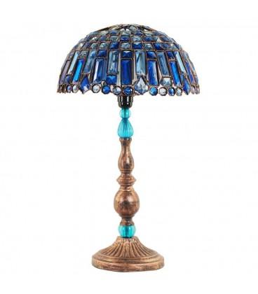 Lámpara sobremesa azul 35x60 cm