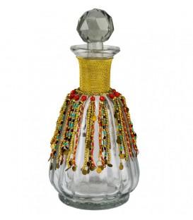 Botella alta 11.5x24.5 cm con avalorios