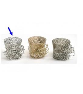 Candelero vaso fantasía 24x9 cm