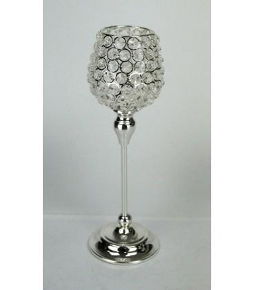 Candelero copa 12x42 cm cristales