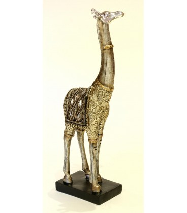 Jirafa 10x31x6,5 cm plateada bronce