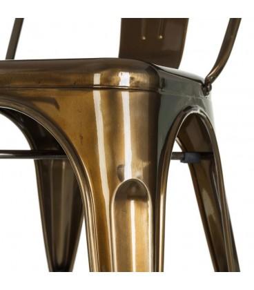 Silla metal Dallas industrial 45 x 52,50 x 85 cm.