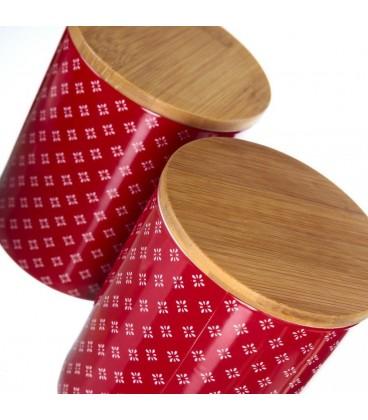 "Tarro ""Sparkle"" rojo porcelana 10 x 10 x 12 cm"
