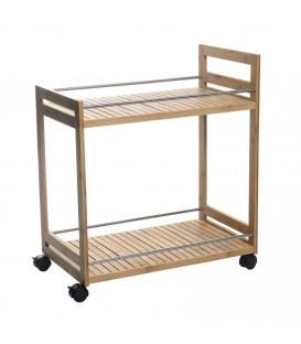 Mesa camarera bambú 55 x 32 x 62,50 cm.
