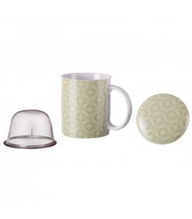 Taza mug tapa/filtro Springline verde