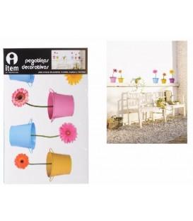 """Pegatinas pared """"Flores"""" 48x32 cm"""