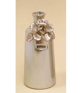 Botella Flor 10.5x23 cm madreperla cerámica
