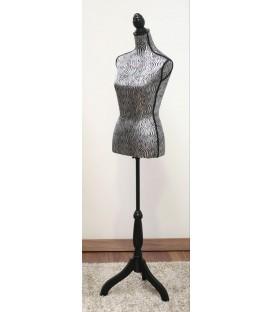 Maniquí cebra 35x168x21 cm plata/negro