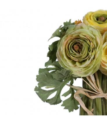 Bouquet ranunculus amarillo pvc 30 cm