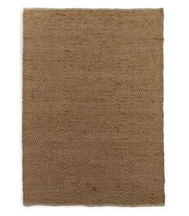 Alfombra yute algodón marron 60x120 cm