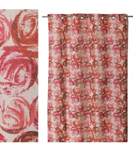 "Cortina anillas ""Rose"" 140 x 260 cm rosa"