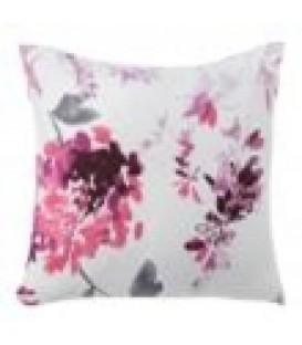 "Cojín ""Lisboa"" blanco-rosa 45x45 cm"