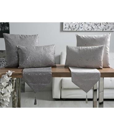 Cojin blanco/plata