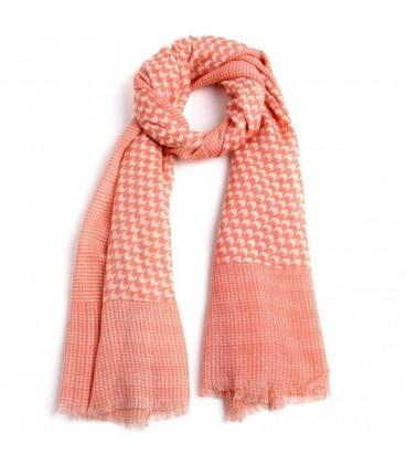 Pañuelo melocotón lana-algodón 70x180 cm.