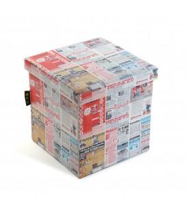 "Puff ""Periódico"" 38x38x37.5 cm"