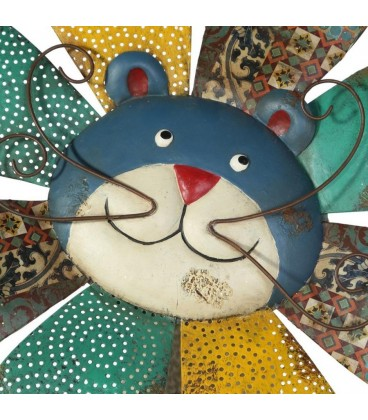Placa pared gato metal