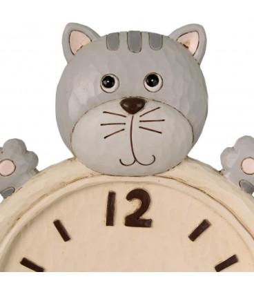 Reloj pared gato multicolor