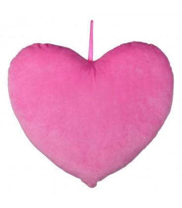 Cojín corazón rosa poliester 35 x 9 x 35 cm.