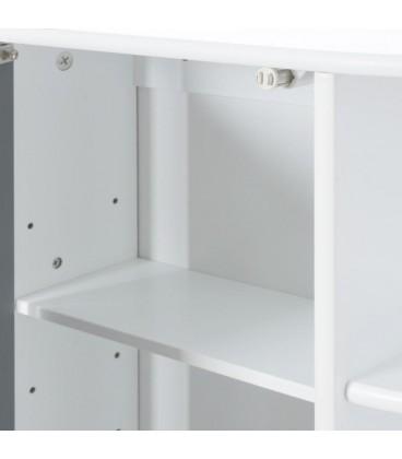 Mueble armario espejo y 4 lejas 59 x 16 x 58 cm