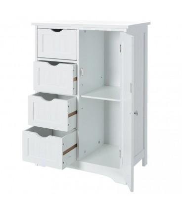 """Mueble 4 cajones y 1 puerta """"Basic White"""" 55 x 30 x 81 cm"""