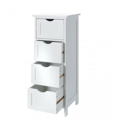 """Mueble 4 cajones """"Basic White"""" 30 x 30 x 81,50 cm."""