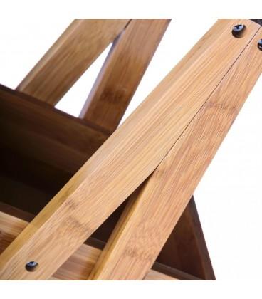 Estantería 3 cajones bambú 30 x 18 x 81 cm