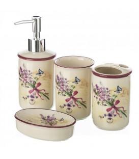 """Set baño 4 piezas """"Lavender"""""""