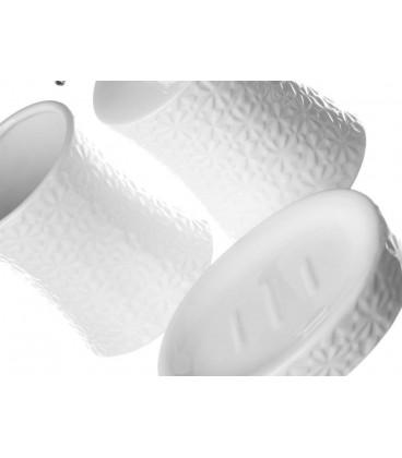 Set baño 3 piezas blanco cerámica