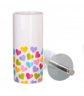 Escobillero Hearts cerámica 10x10x32 cm