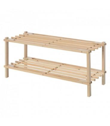 Zapatero 2 baldas abeto 64 x 26 x 29,50 cm