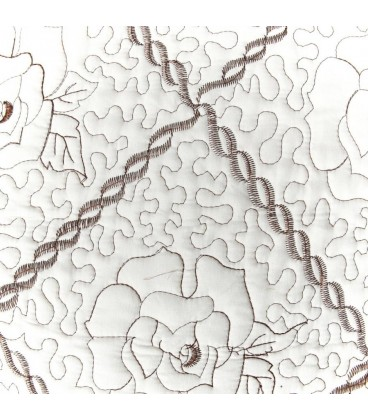 Colcha bouti María crema-marrón 180x260 cm