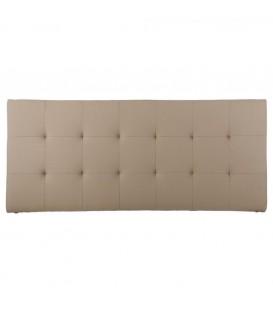 Cabecero 150 cm tapizado beige 162 x 7 x 70 cm