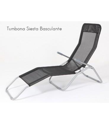 "Tumbona reclinable ""Siesta"" hierro."