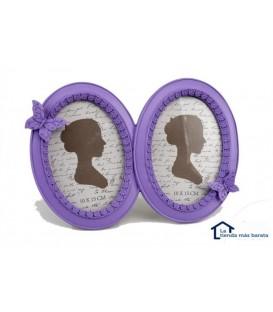 Portafotos doble 10x15 cm lila