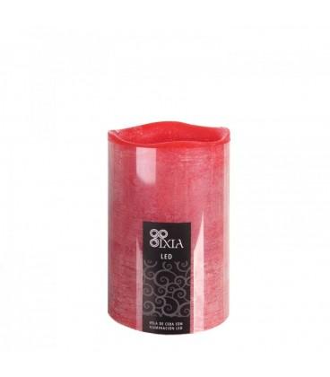 Vela led rojo 100% parafina