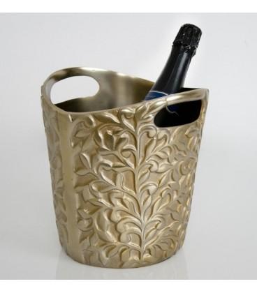 Champanero brocado silver h. 24 cm