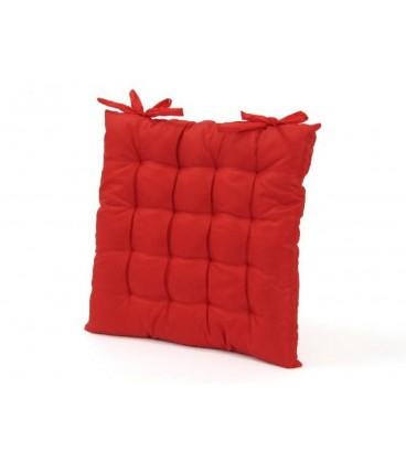 """Cojín silla tafeta 40x40x5 cm """"lcc"""". Con lazos."""