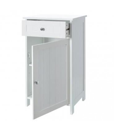 """Mueble 1 cajón y 1 puerta """"Basic White"""" 43 x 34 x 77 cm"""