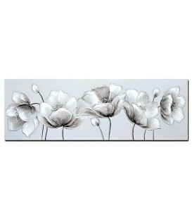 Pintura flores brillos 150x50x3 cm