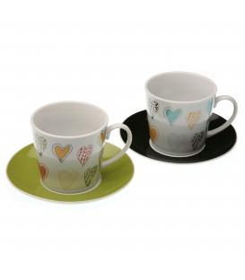 S/2 tazas de té c/plato 220 ml