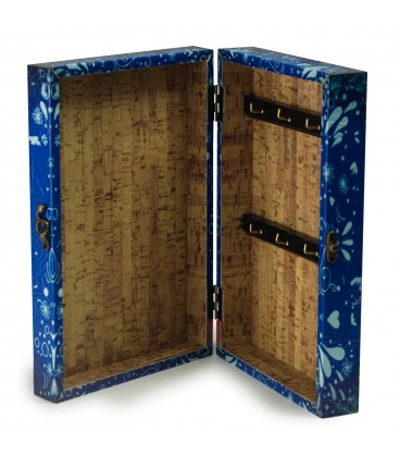 Caja llaves azul 31x21x8 cm