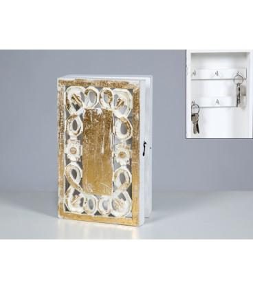 Caja portallaves madera calado