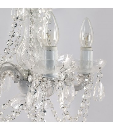 Lámpara 5 br blanca 40x33x33 cm
