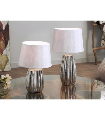 "Lámpara ""Sacha"" cerámica plata"