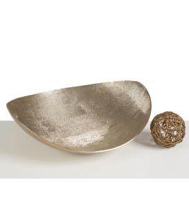 Centro 33x28 cm dorado aluminio