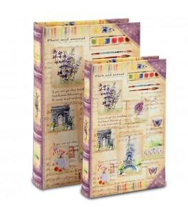 Set 2 cajas libro 4,5x26x17 cm
