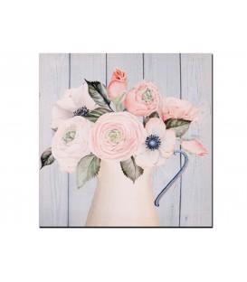 Cuadro 30x30 cm jarrón c/flores