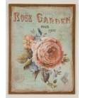 """Cuadro lino """"Roses"""" 56x40,5 cm"""