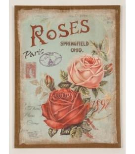 """Cuadro lino """"Rosas"""" 56x40,5 cm"""